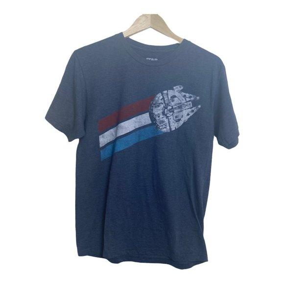 Star Wars Millennium Falcon Blue Graphic T-Shirt